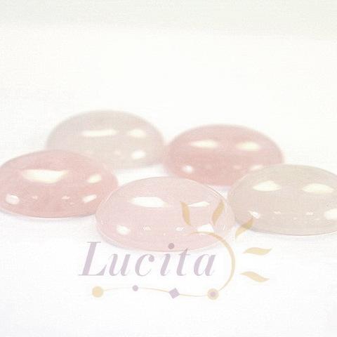 Кабошон круглый Кварц розовый, 26 мм