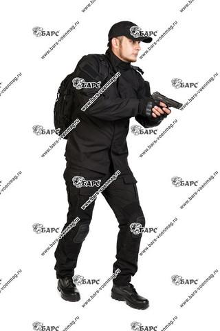 Камуфляжный костюм «Гром» (С наколенниками) Черный