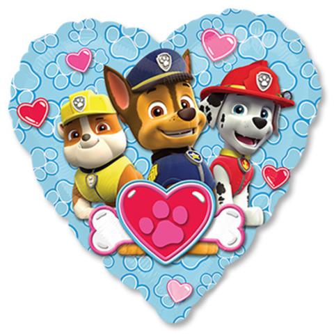 Щенячий патруль сердце голубое