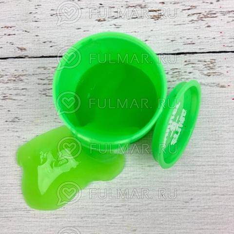 Лизун слайм в бочке Barrels O Slime маленький Зелёный