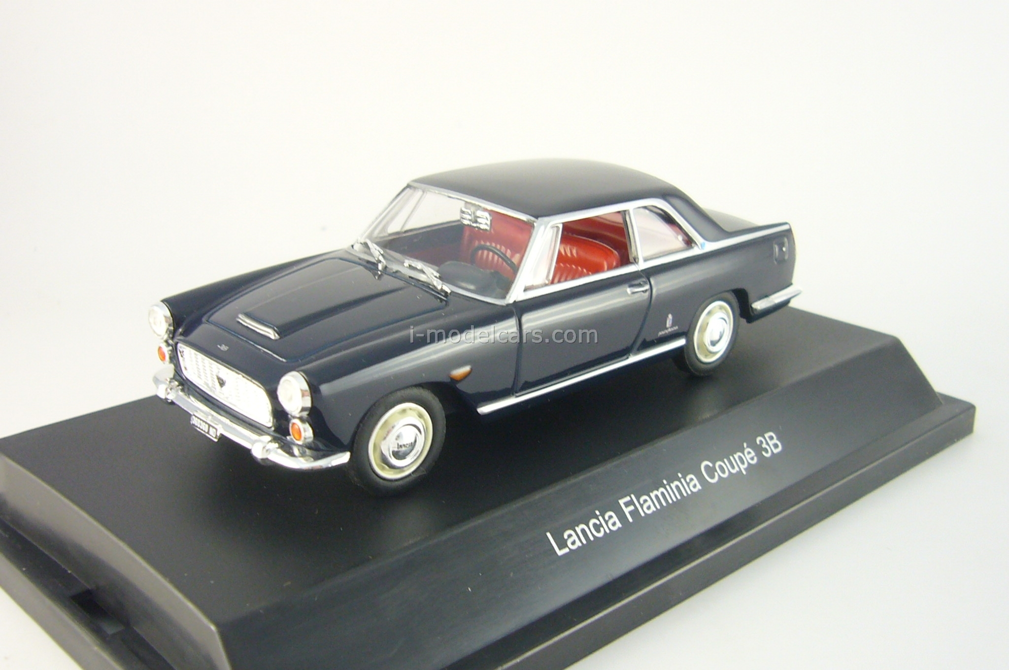 model cars lancia flaminia coupe 3b dkl.-blue starline 1:43