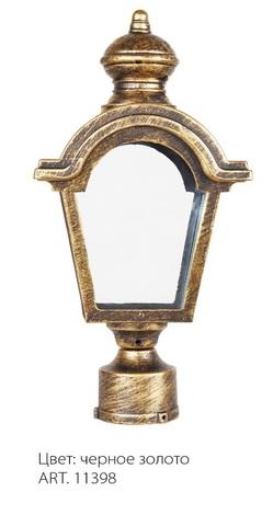Светильник садово-парковый, 60W 230V E27 IP44 черное золото PL4015 (Feron)