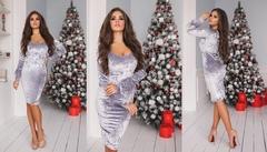 Платье бархатное Модель 2139-1