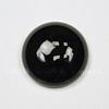 Кабошон круглый Агат Черный (тониров), 18 мм