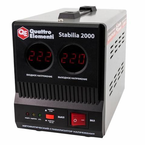 Стабилизатор напряжения QUATTRO ELEMENTI Stabilia  2000 (2000 ВА, 140-270 В, 4,5 кг)