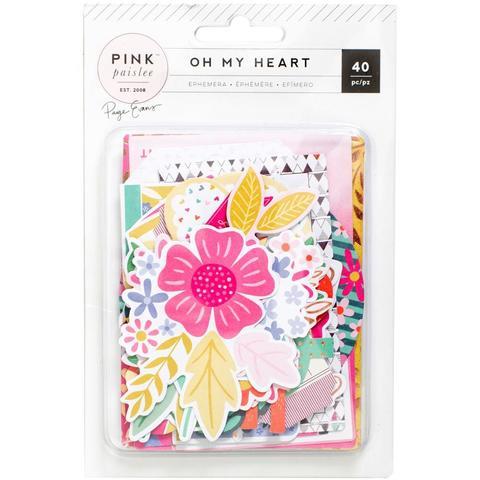 Высечки- коллекция Oh My Heart- Pink Paislee - 40 шт.