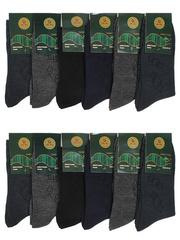 6799 BOYI носки мужские, цветные 42-48 (12шт.)