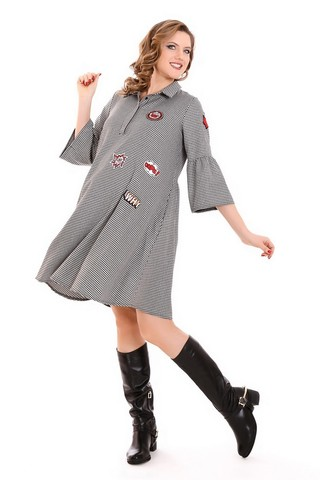 Платье для беременных 09213 черный