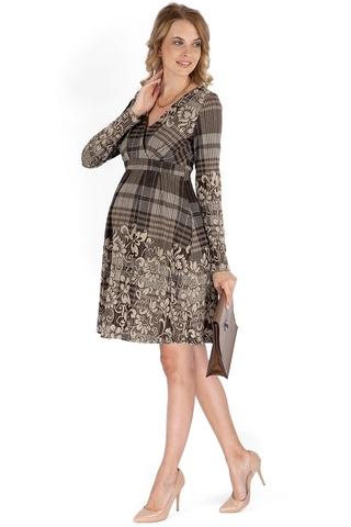 Платье 10114 коричневый