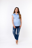 Блузка для беременных 01314 розовый