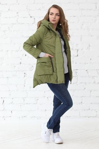 Куртка 2в1 для беременных 10802 оливковый