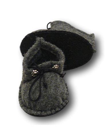 Ботиночки из фетра - Серый 1. Одежда для кукол, пупсов и мягких игрушек.