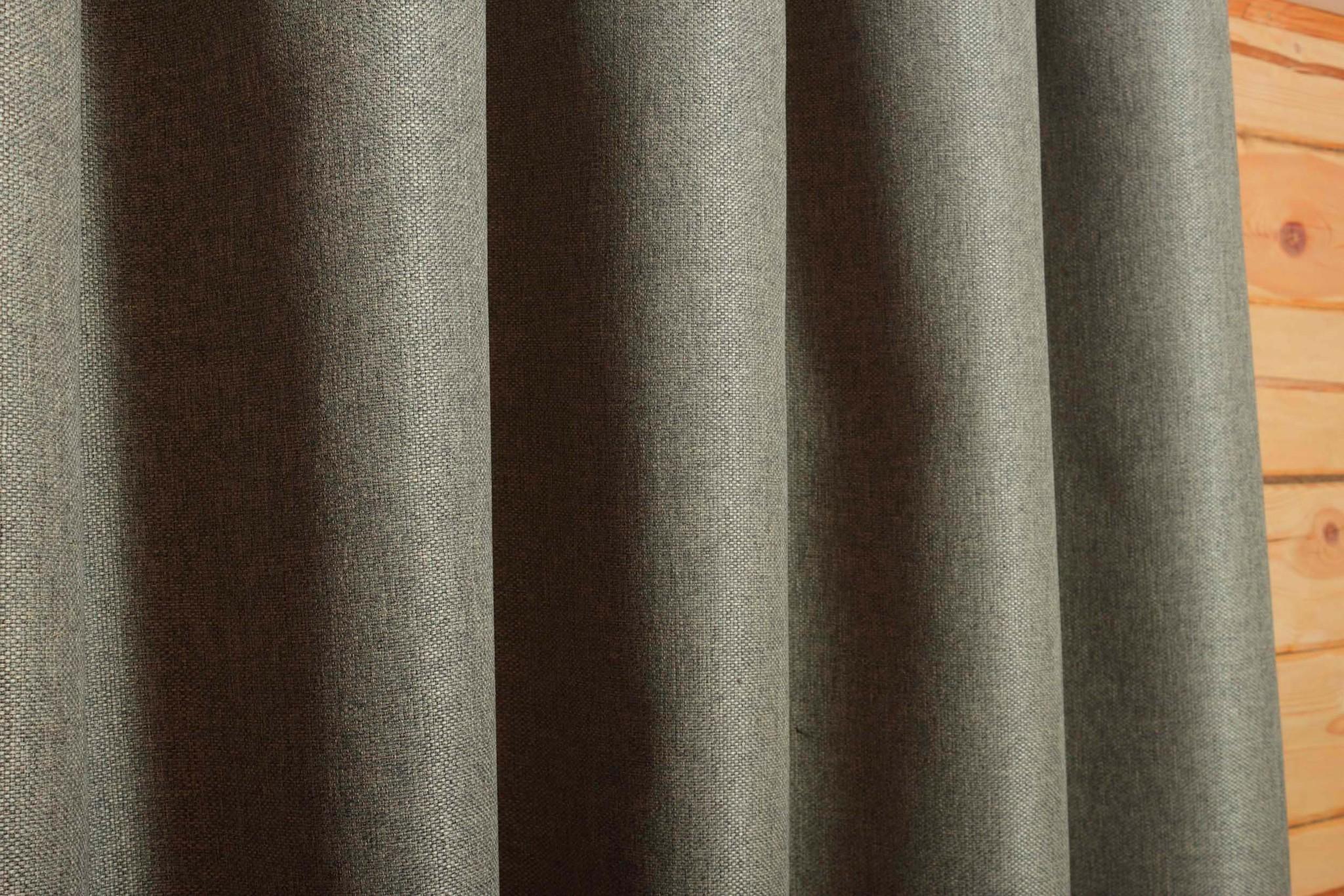 Длинные шторы под  лён Oxford (тёмно-бежевый)