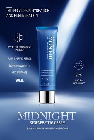 Ночной Крем для Лица MANYO FACTORY Midnight Regenerating Cream