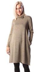Евромама. Платье трикотажное для беременных и кормящих, хаки