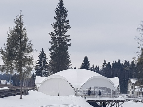 Арочный шатер 20х17 «Гексагональ»