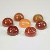 Кабошон круглый Агат Красный, 8 мм