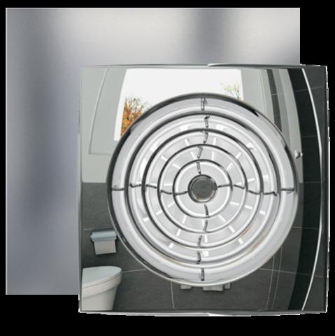 Вентилятор Эра AURA 5C CHROME D125 с обратным клапаном