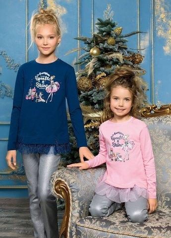 PelicanGFJ3093 Джемпер для девочек нарядный синий