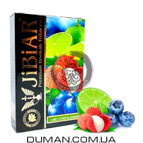 Табак JiBiAR Lime Lychee Blueberry (Джибиар Лайм Личи Черника) 50g