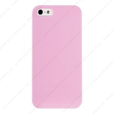 Накладка REMAX для iPhone SE/ 5s/ 5C/ 5 матовая розовая