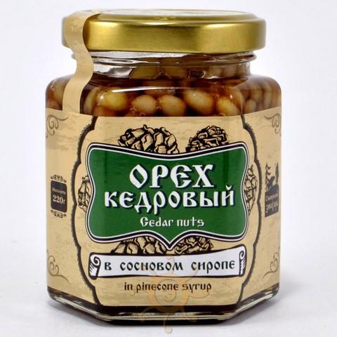 Орех кедровый в сосновом сиропе Сибирский Знахарь, 220г