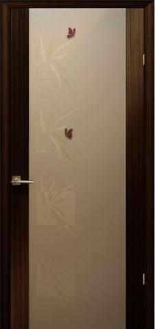 Дверь Модерн (стекло бабочки) (венге) (венге, остекленная шпонированная), фабрика LiGa