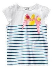 CRAZY8 Футболка нарядная, украшена цветами из ткани ДВ56