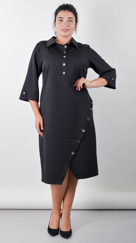 Рио. Изящное платье для пышных женщин. Черный.