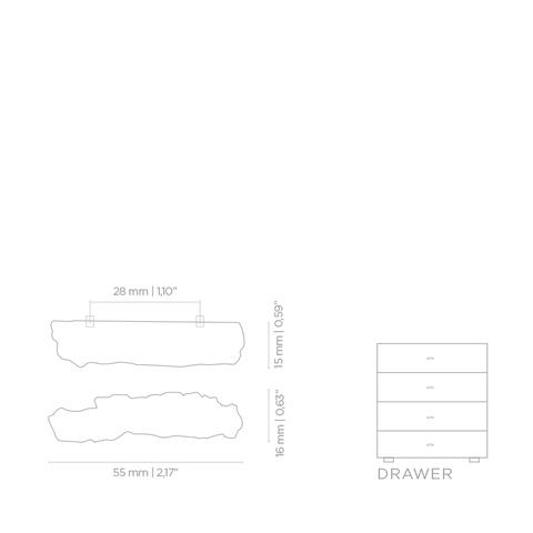 Мебельная ручка PullCast KESYA EA1007