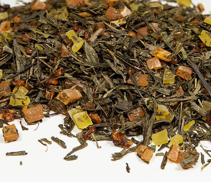 TEA-AR128 Зеленый фруктовый чай «Рыжий Дракон» с облепихой и манго (50 гр) фото 03