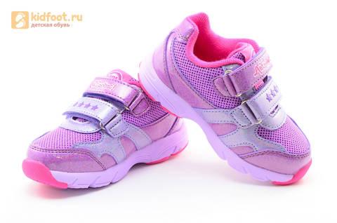 Светящиеся кроссовки для девочек Пони (My Little Pony) на липучках, цвет сиреневый, мигает картинка сбоку,  5873B. Изображение 8 из 15.