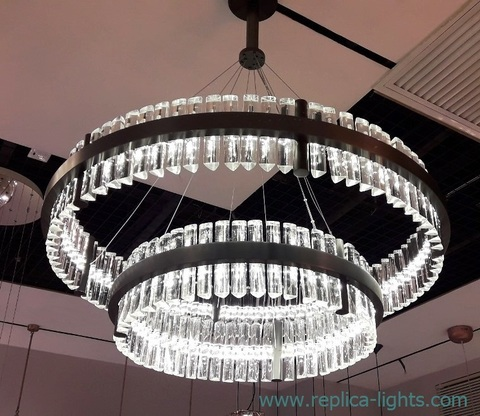 replica Baroncelli  Crono LED 2 ring chrome Pendant by Baroncelli