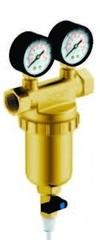 Фильтр Гейзер Бастион 7508145201 с двумя манометрами для холодной и горячей воды 3/4