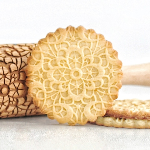 LARGE LACE - engraved rolling pin