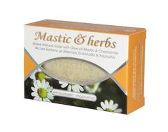 Натуральное мыло с оливковым маслом, мастикой и ромашкой от MASTIC & HERBS 125 гр