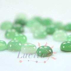 Кабошон круглый Агат зеленый, 6 мм