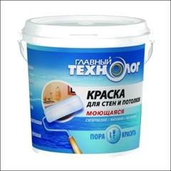 Тиксотропная в/д краска для стен и потолков моющаяся НОВБЫТХИМ Главный Технолог (белый)