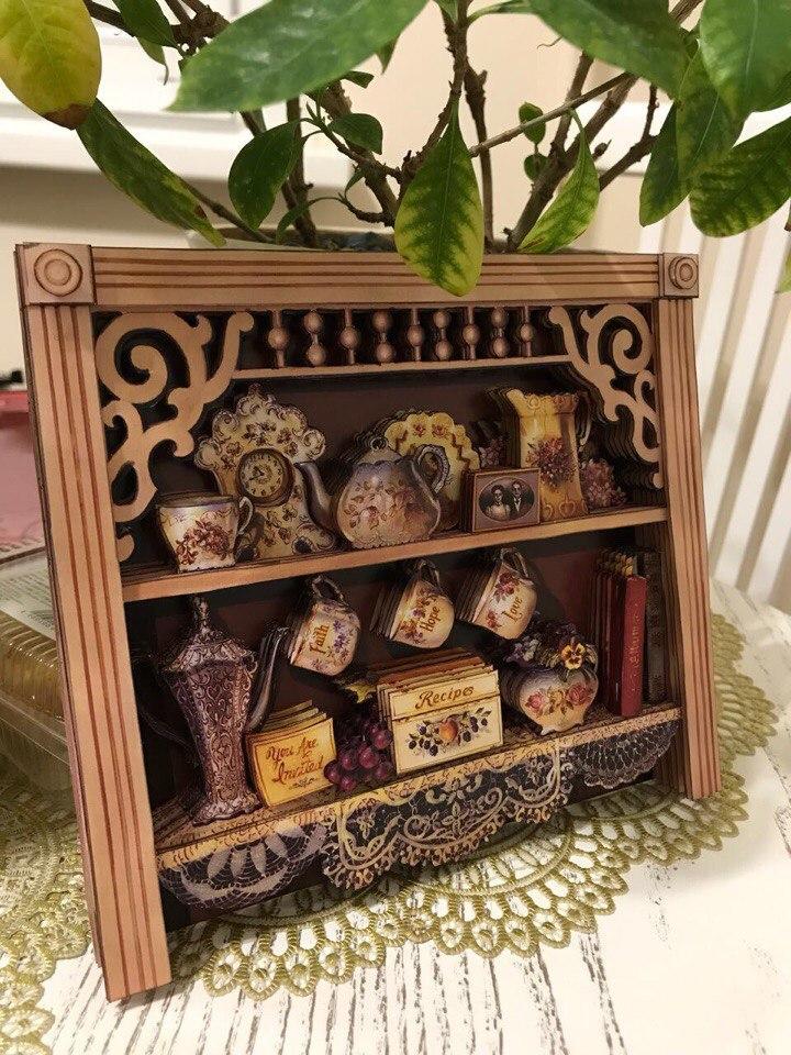 Папертоль Английский шкафчик — пример готовой работы.