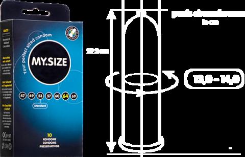 Презервативы MY.SIZE №10 размер 64
