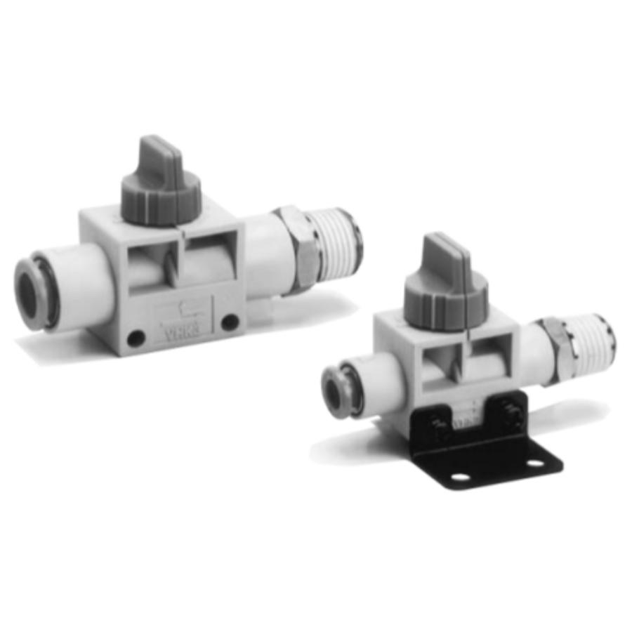 VHK2-10F-03S  2/2-Ручной пневмораспределитель