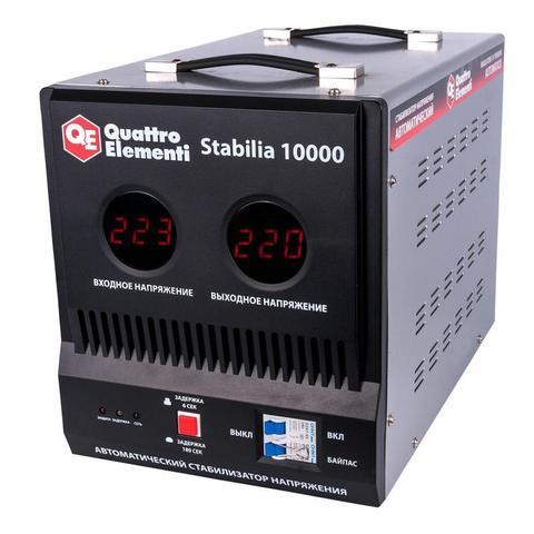 Стабилизатор напряжения QUATTRO ELEMENTI Stabilia 10000 (10000 ВА, 140-270 В, 18.6 кг, байпас)