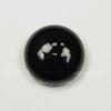 Кабошон круглый Агат Черный (тониров), 14 мм