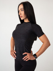 Футболка женская Lion gym MAXI PERFORATION T-SHIRT BLACK