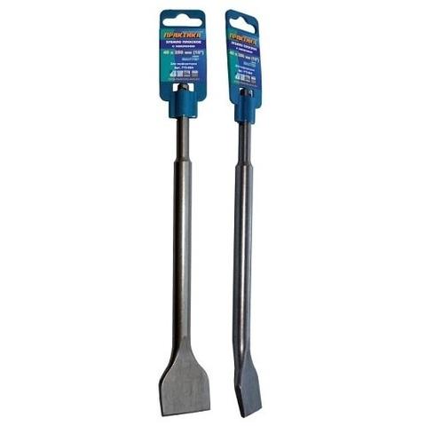 Зубило   SDS-plus плоское ПРАКТИКА 40 х 250 мм , для плитки, наклон 10 градусов