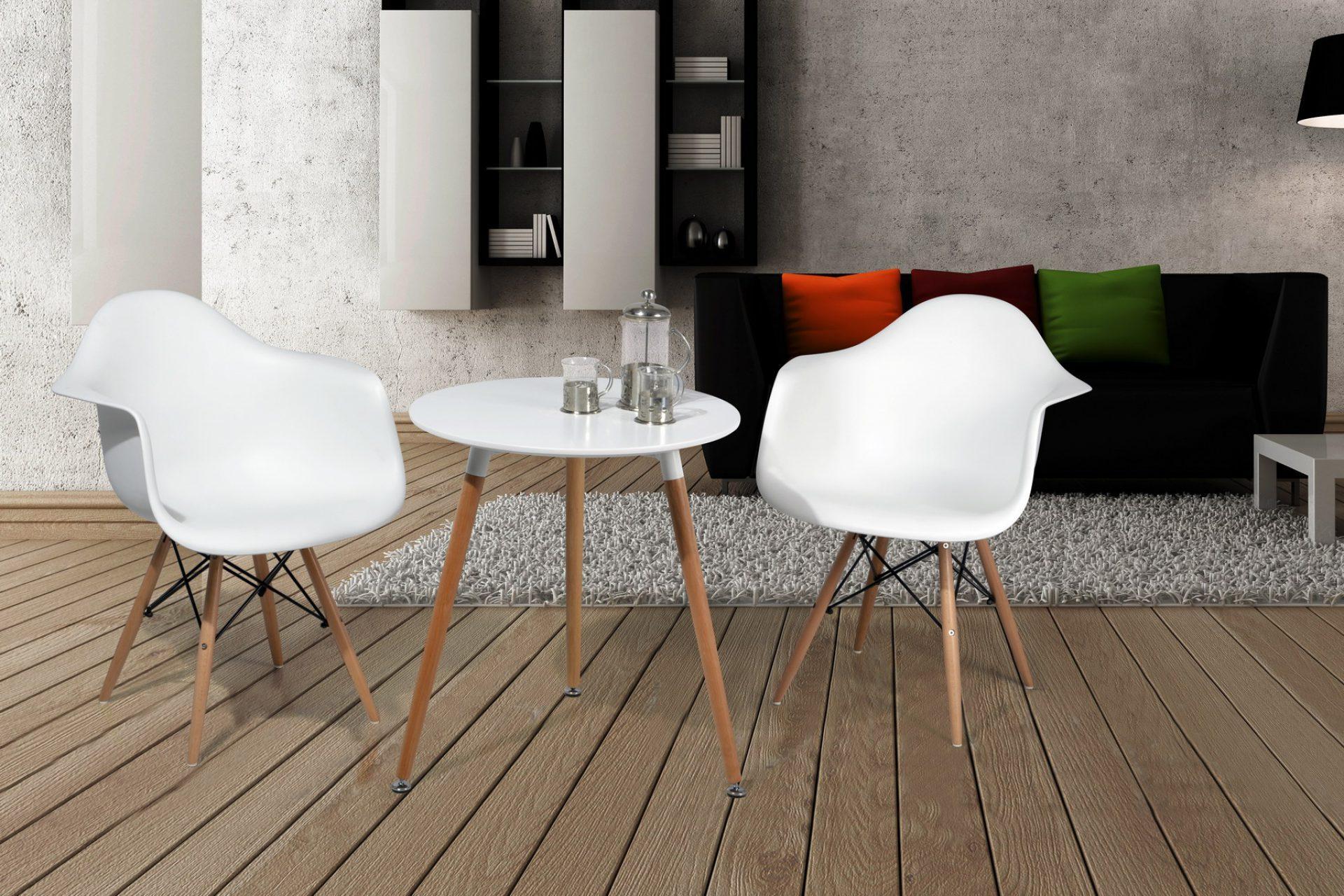 Стол DT-903 белый и стулья ESF 982 белые