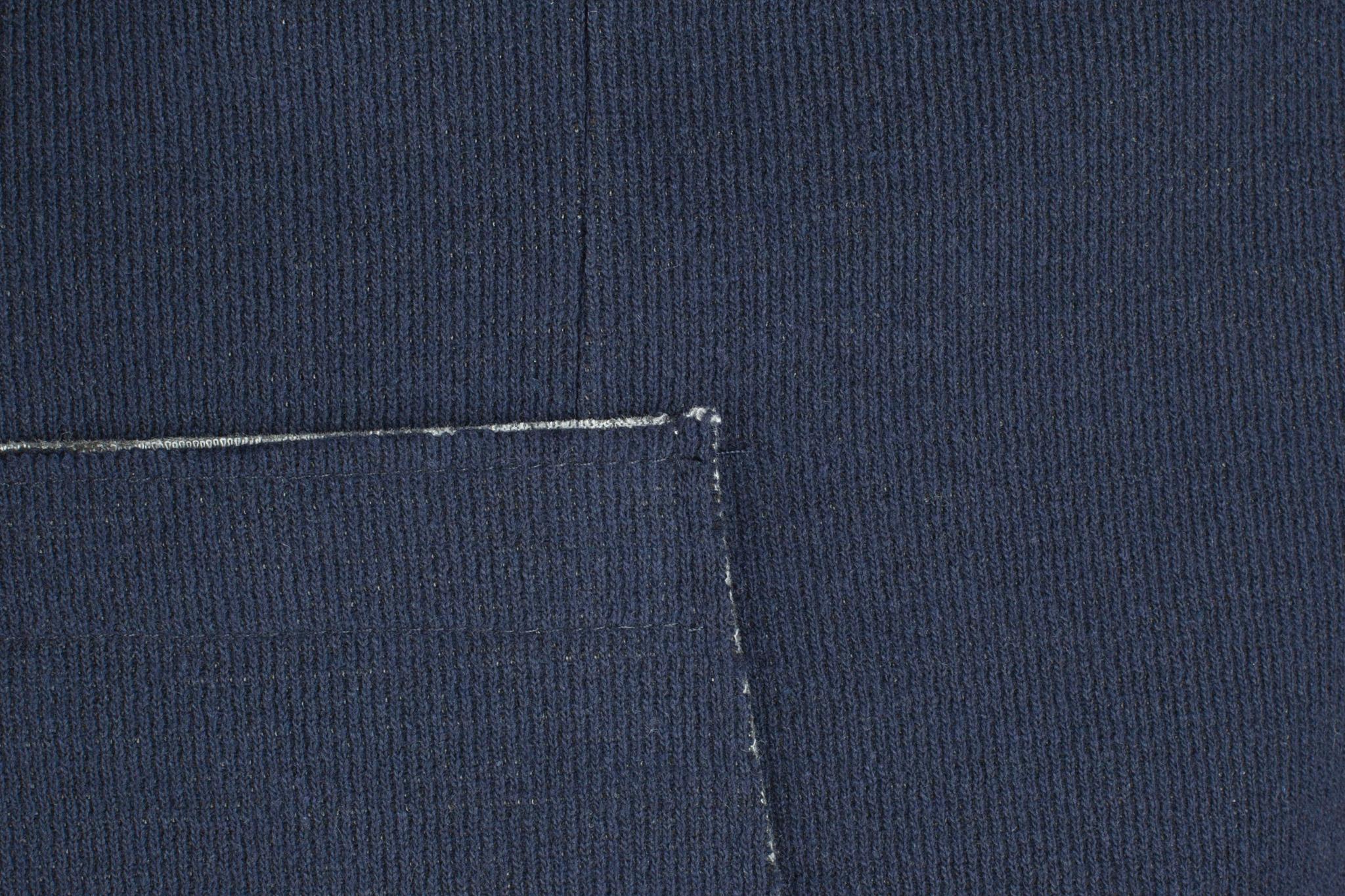 Тёмно-синий трикотажный пиджак из смеси хлопка и вискозы
