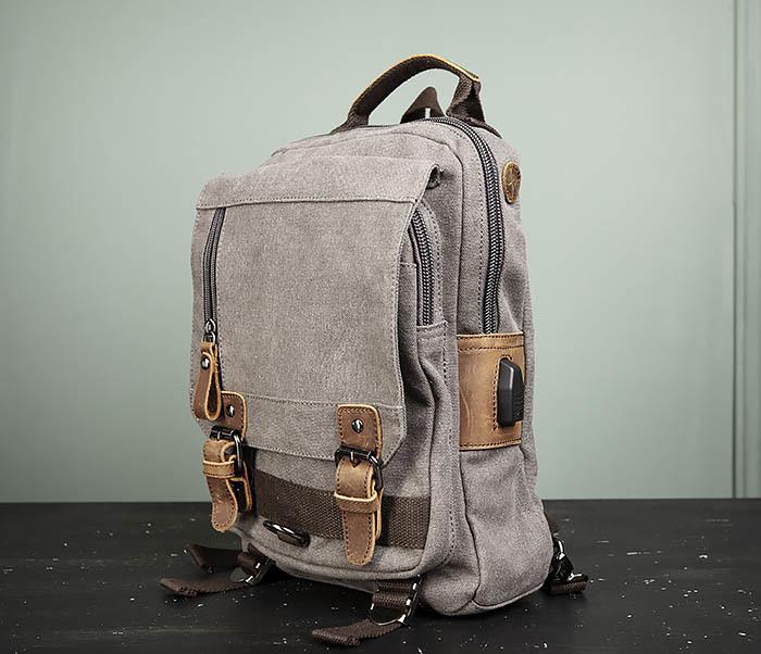 BAG476-3 Удобный мужской рюкзак с USB зарядкой фото 04