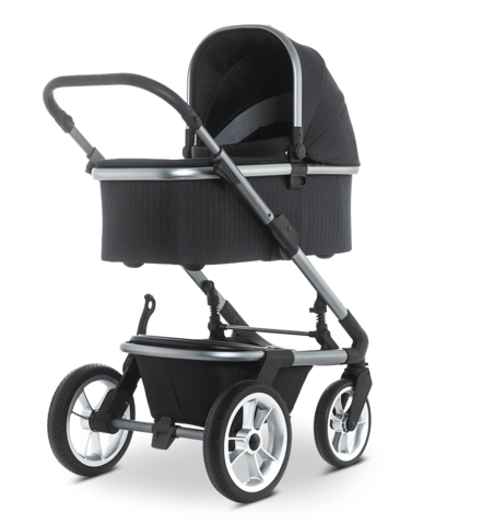 Коляска Moon Solitaire 2 в 1 Black + Автокресло Cybex Aton M i-Size