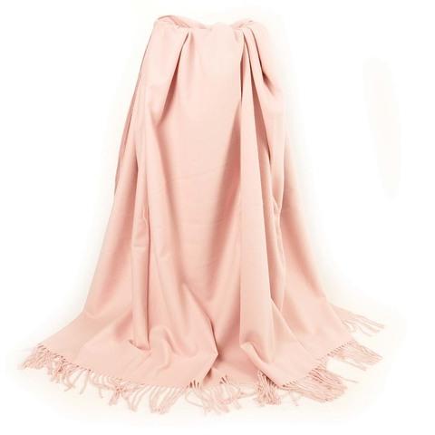 Плед из чистого хлопка розовый